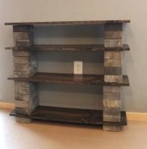 Diy Concrete Block Bookshelf - Crazy Craft Lady