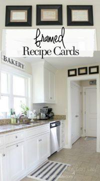 Framed Recipe Cards - The Crazy Craft Lady