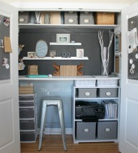 Home Office in a Closet - The Crazy Craft Lady