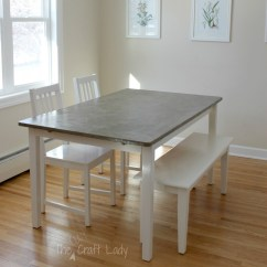 Kids Table And Chairs Target Plush Rocking Chair Rhino Diy Concrete Dining Top Set Makeover - The Crazy Craft Lady