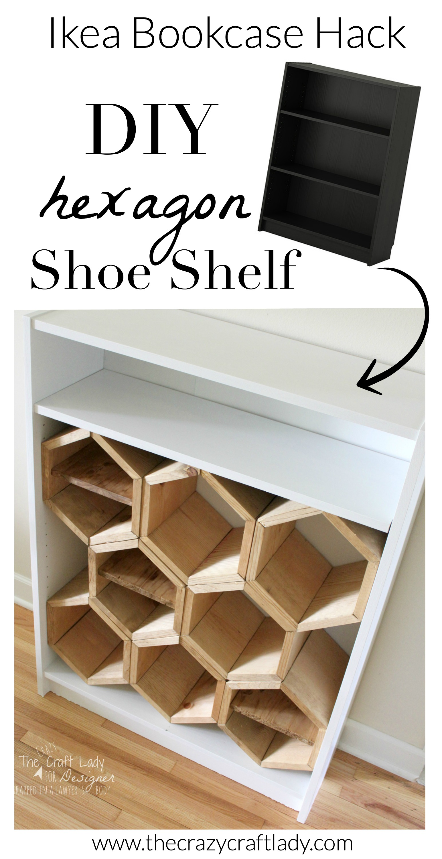 DIY Hexagon Shoe Shelf  A Guest Post  The Crazy Craft Lady
