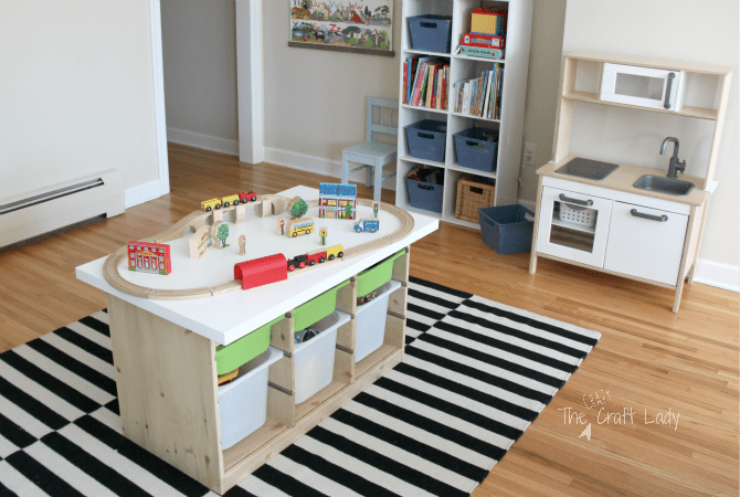 An Ikea Hack Train Activity Table The Crazy Craft Lady