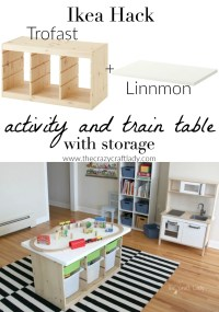 An Ikea Hack Train & Activity Table - The Crazy Craft Lady