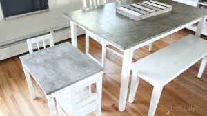 Concrete Table Top Project The Crazy Craft Lady