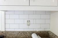 White Subway Tile Temporary Backsplash - The Full Tutorial ...