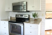 White Subway Tile Temporary Backsplash - The Full Tutorial ...