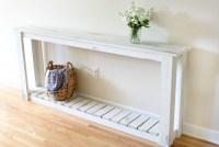 DIY Sofa Table - Farmhouse Style - The Crazy Craft Lady