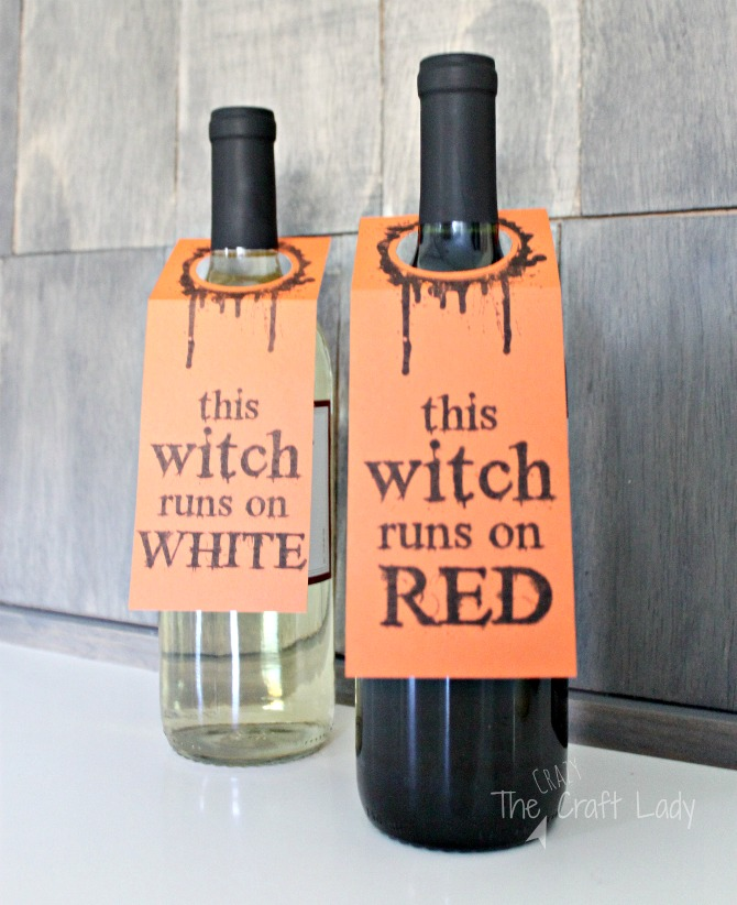 halloween wine labels the