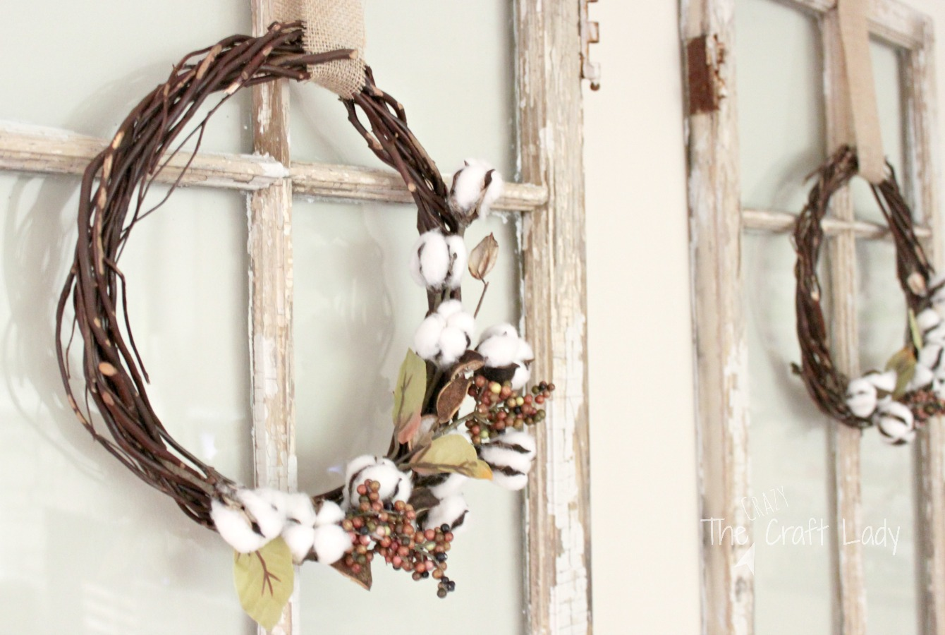 Dollar Store Cotton Wreath The Crazy Craft Lady