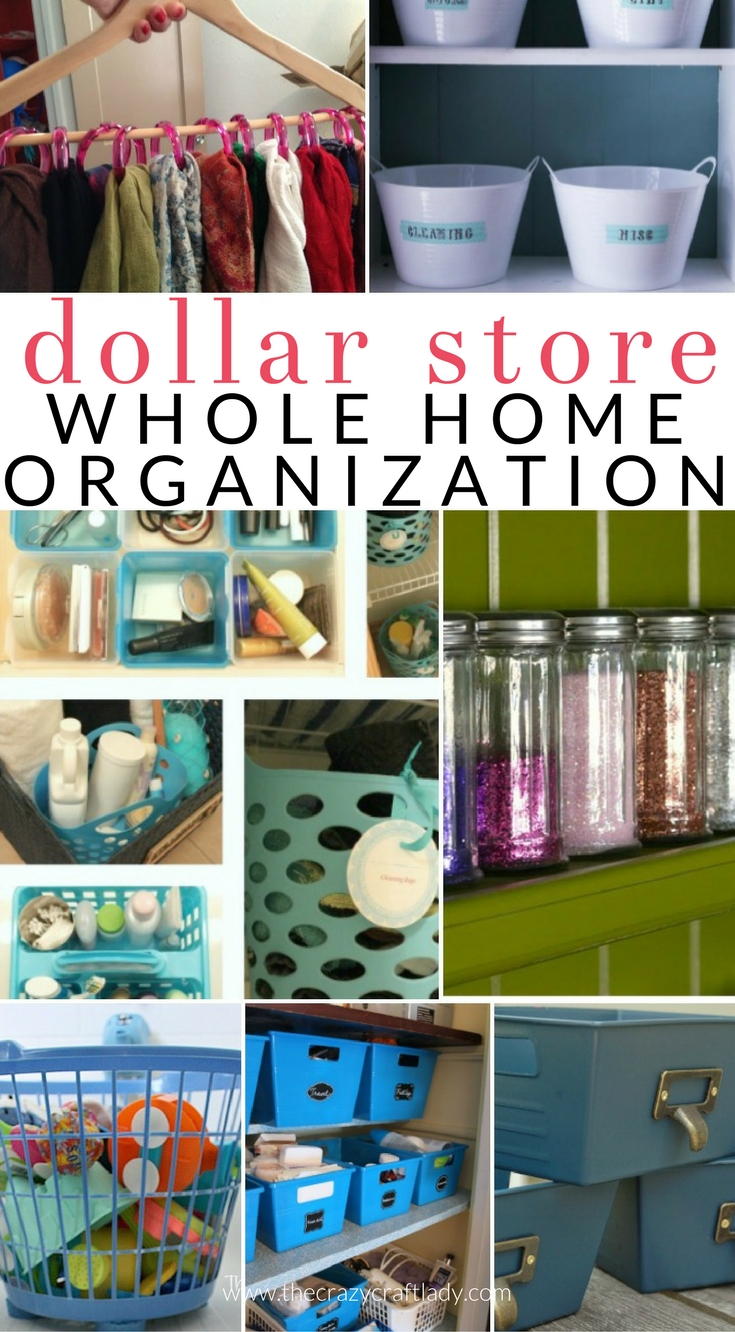 Organize Your Entire House With Dollar Store Items Dollar