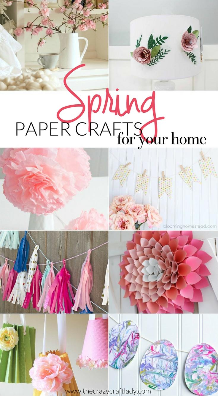 spring paper crafts for