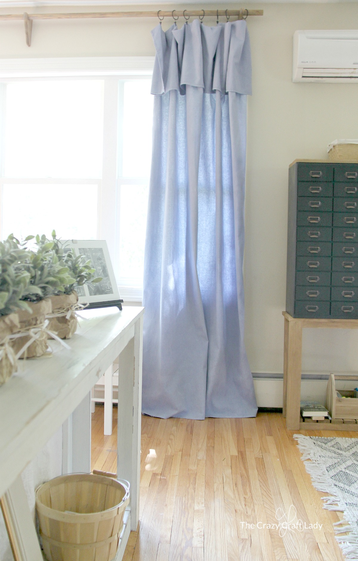 DIY NoSew Drop Cloth Curtains a CHEAP DIY Curtain Rod