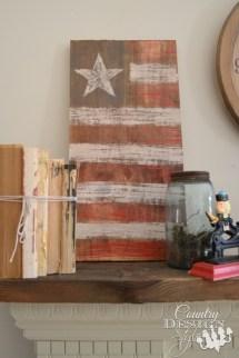 American Flag Crafts - Farmhouse Decor Summer Long