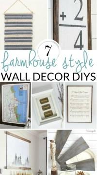 DIY Farmhouse Wall Decor Inspiration - The Crazy Craft Lady