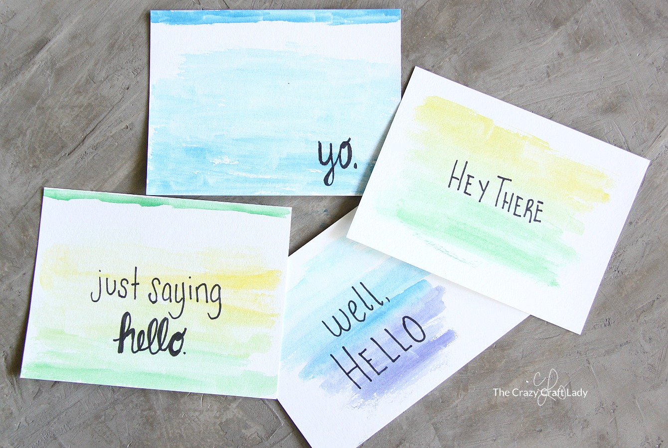 Quick Craft Watercolor Cards With Quotes The Crazy