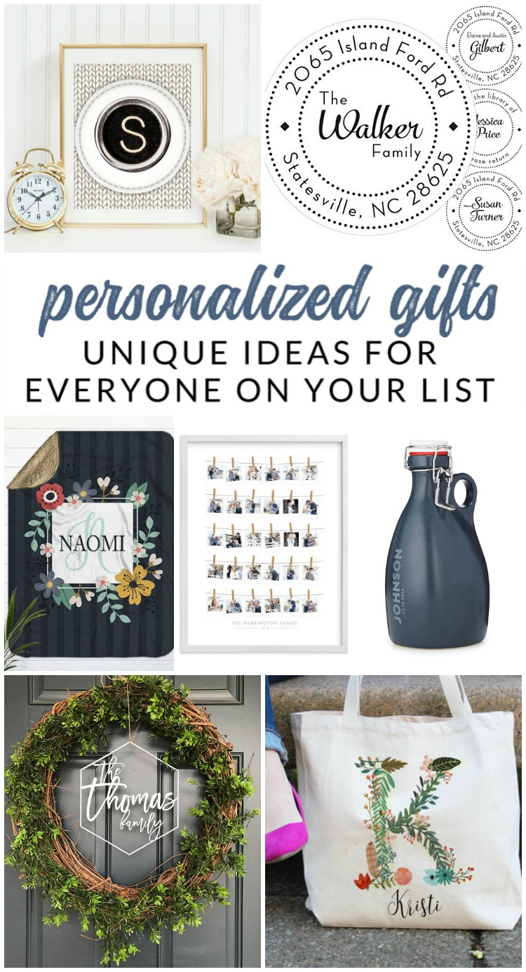 Unique personalized gifts sure to WOW everyone on your
