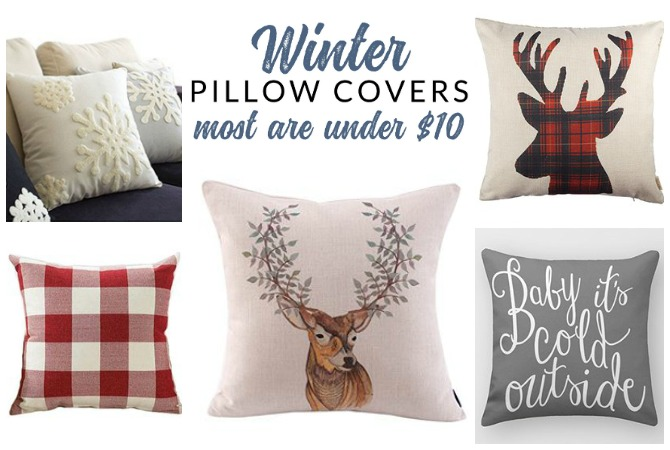 Insanely Affordable Winter Throw Pillows  Options for