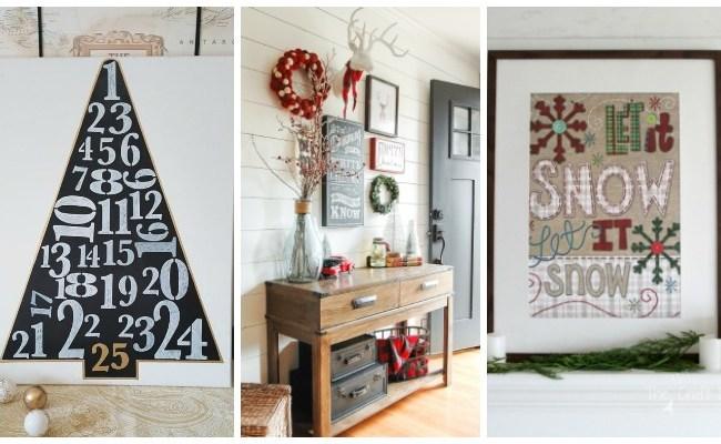 Deck The Walls 14 Inspiring Diy Christmas Wall Decor
