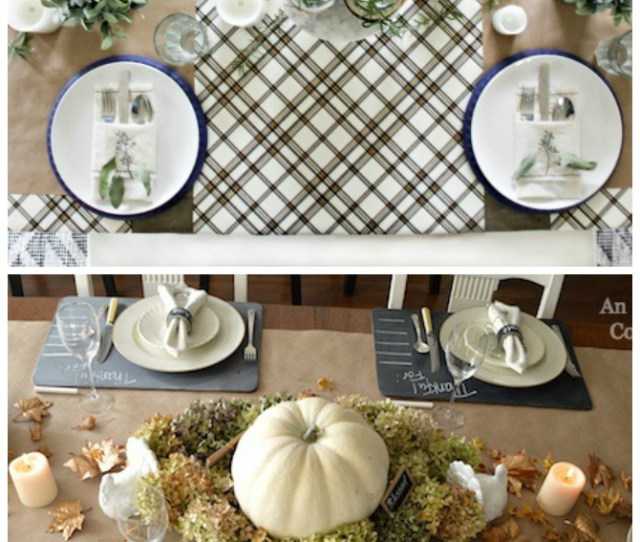 How To Make A Thanksgiving Tablecloth With Paper Easy Diy Thanksgiving Decor For Your Table