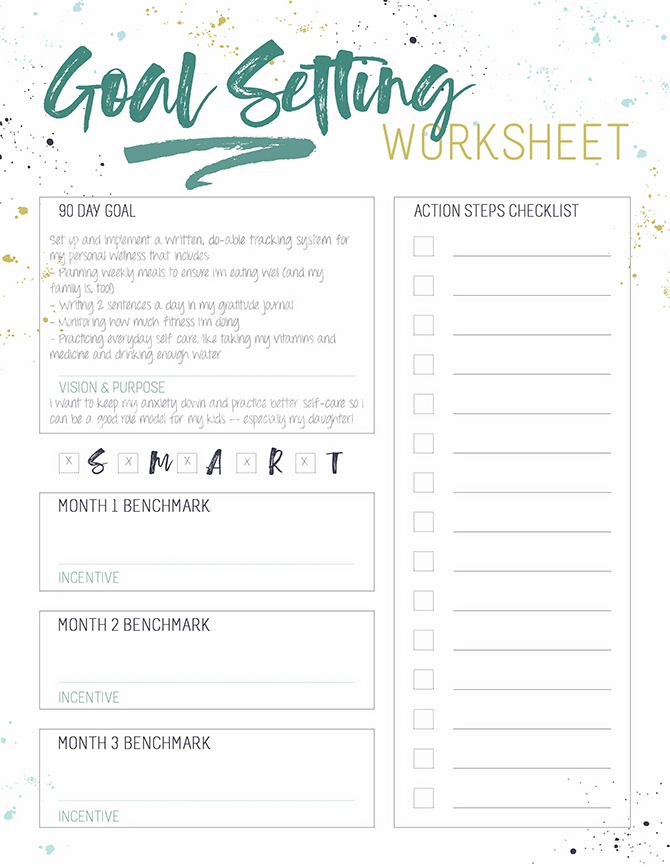 Grab this S.M.A.R.T. Goal Setting Worksheet for Busy Women