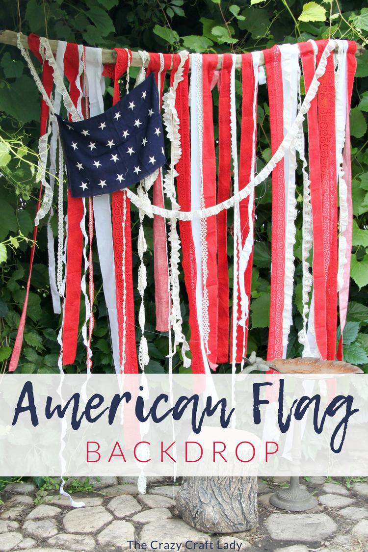 diy american flag backdrop