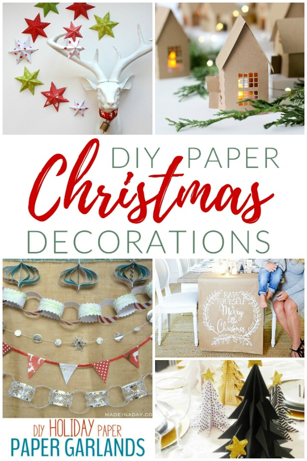 Merry Little Diy Creative Paper Christmas Decorations The Crazy Craft Lady