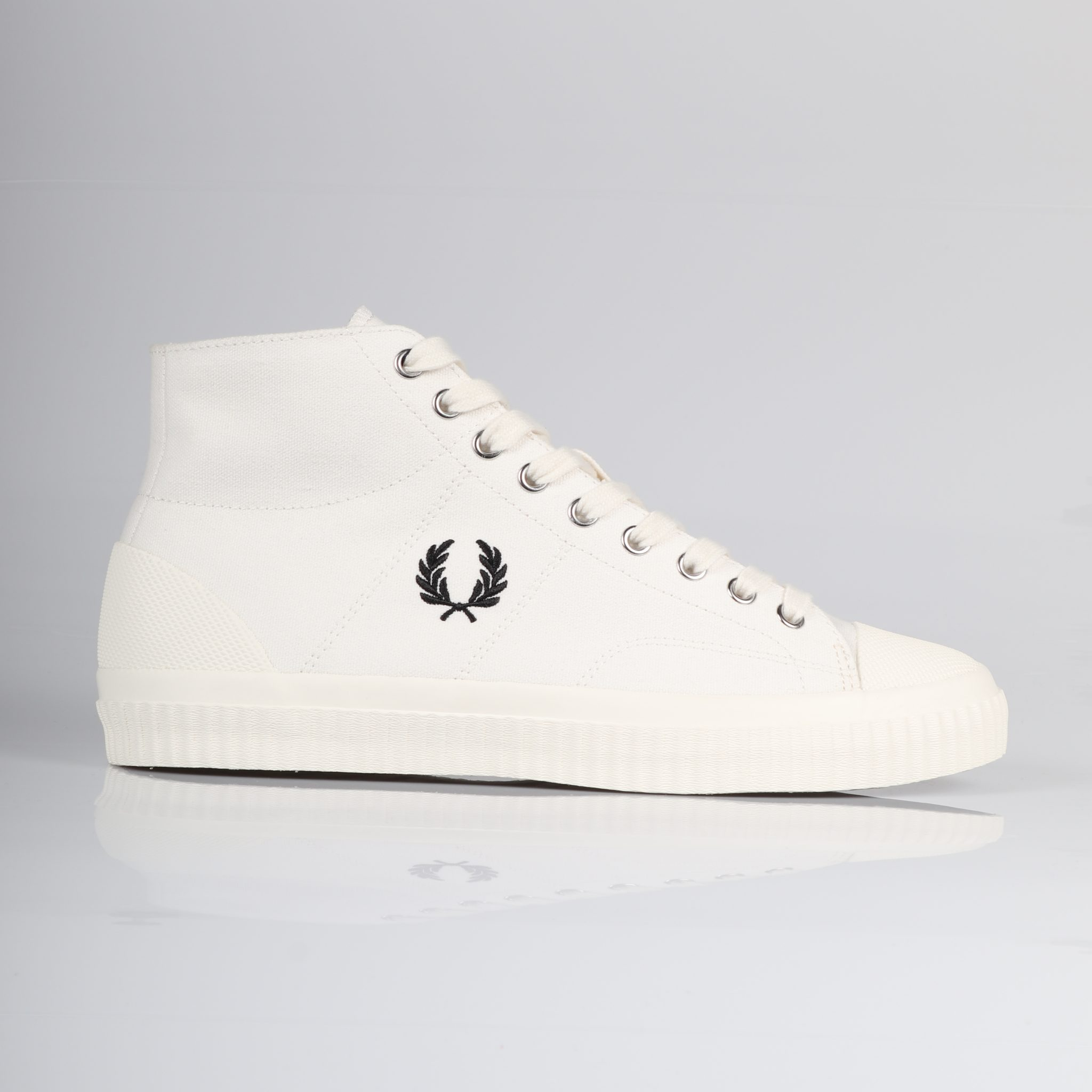 Fred Perry Hughes Mid Canvas - Light Ecru/Black 0