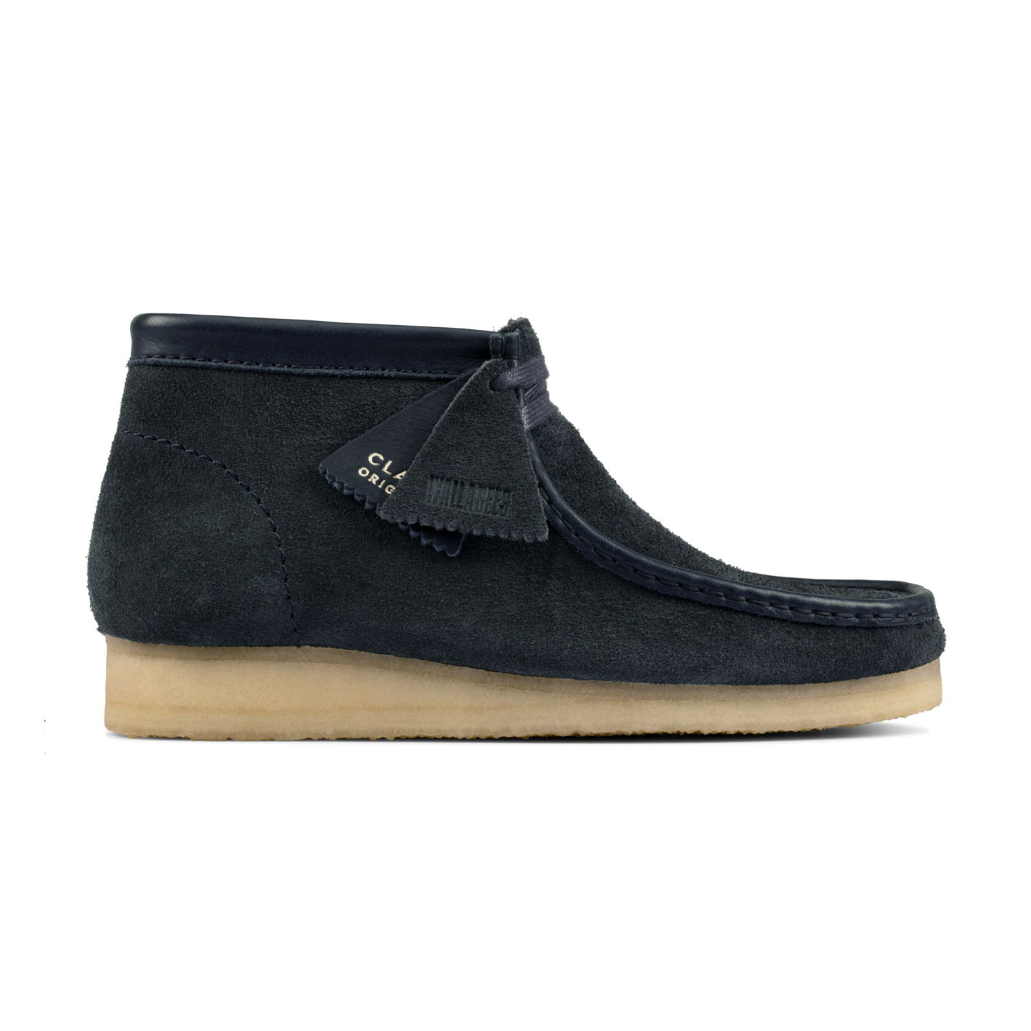 Clarks Wallabee Boot - Navy/Hairy Suede 0