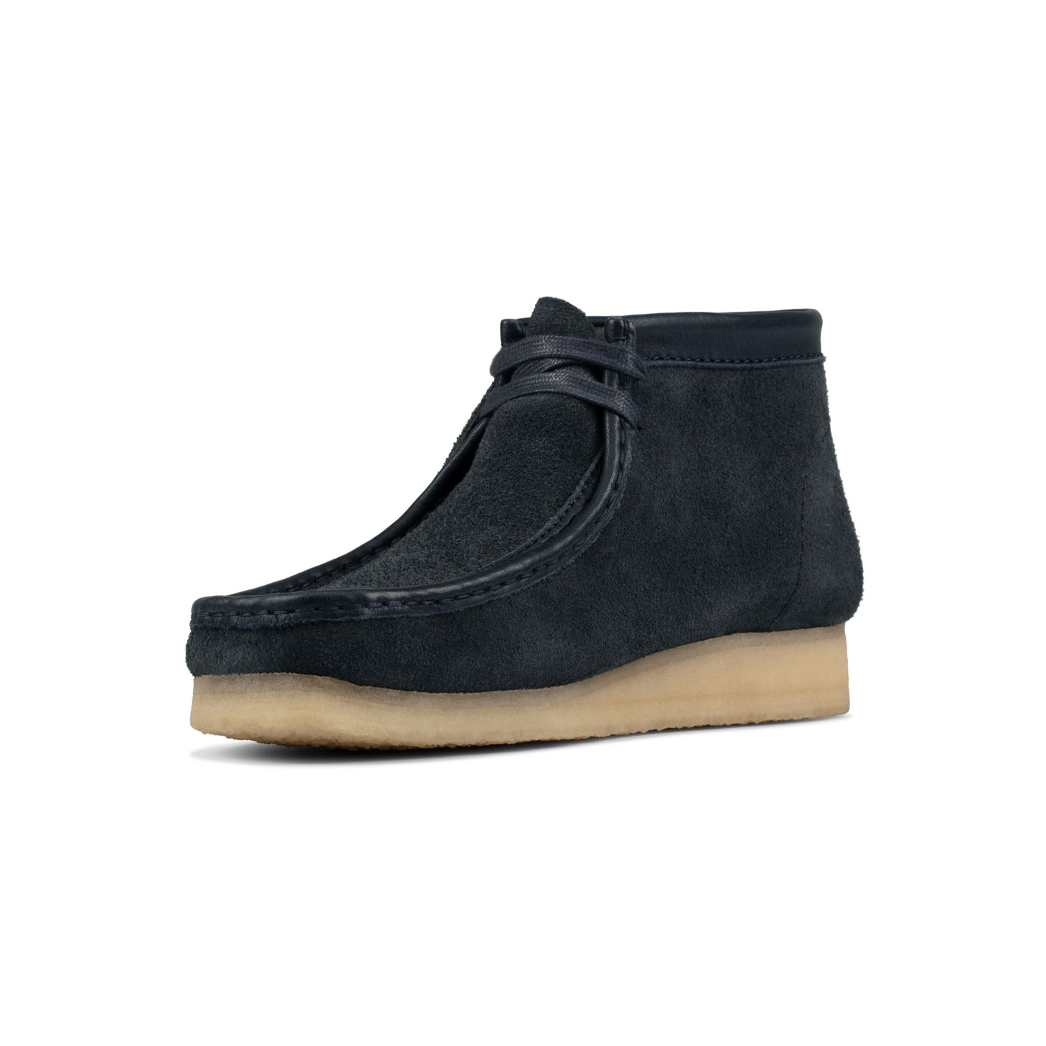 Clarks Wallabee Boot - Navy/Hairy Suede 2