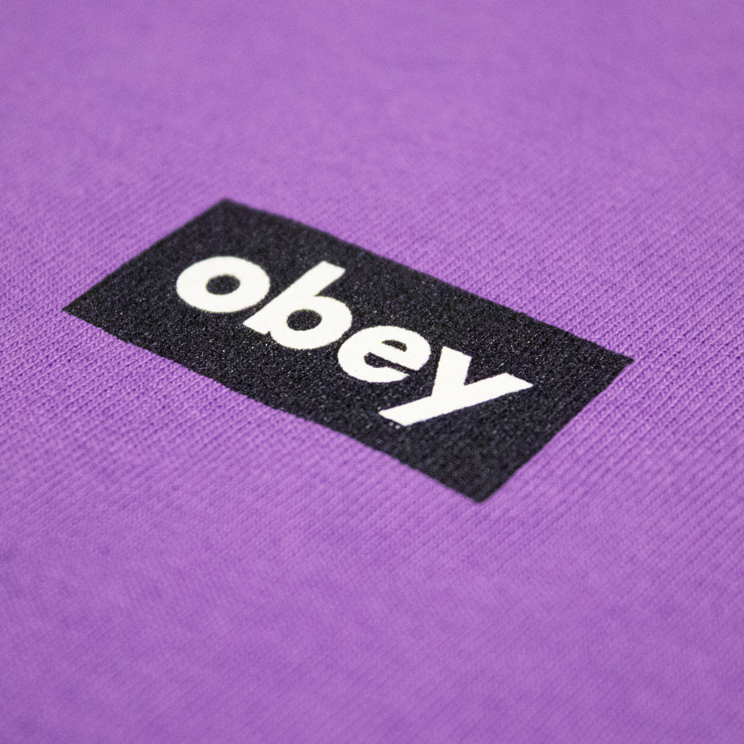 Obey Black Bar Tee - Orchid 2