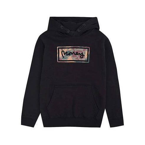 Money Kids Super Star Camo BB Hood - Black 0