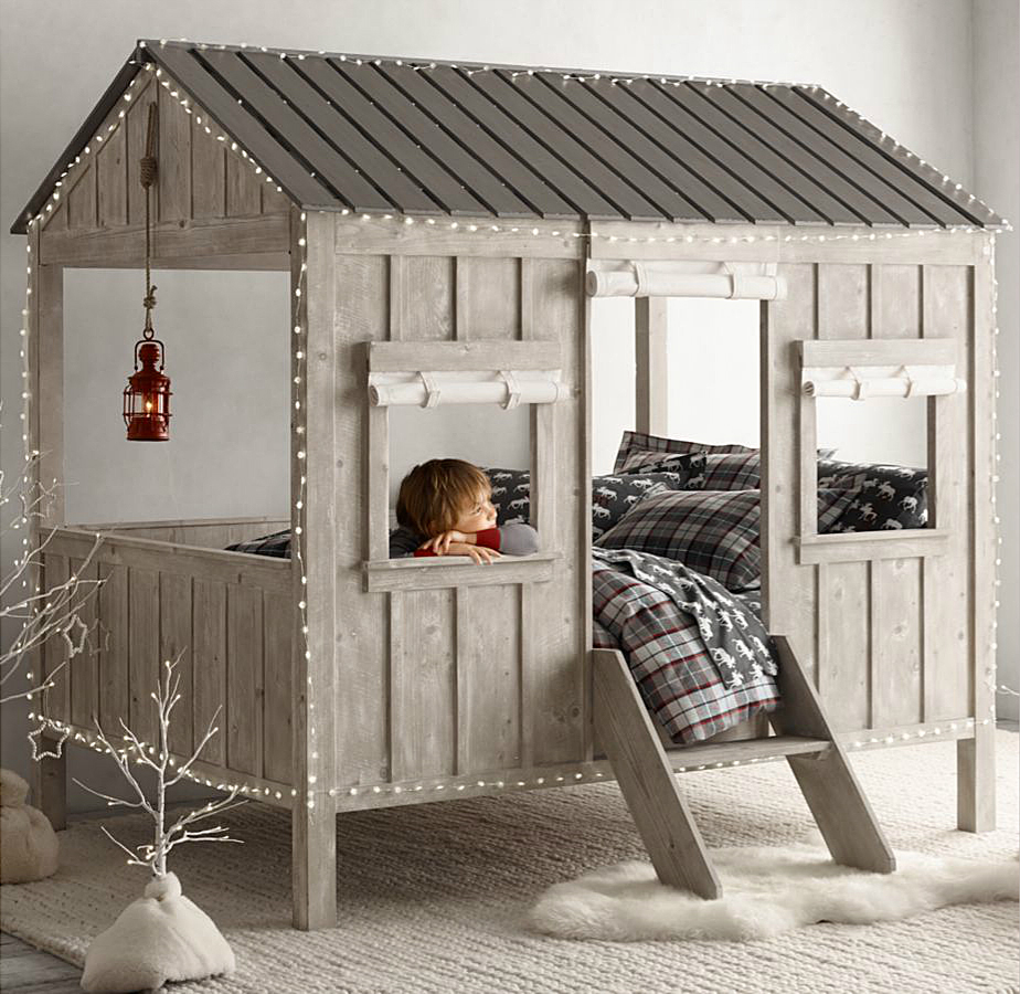cabin bed is kid size indoor dwelling