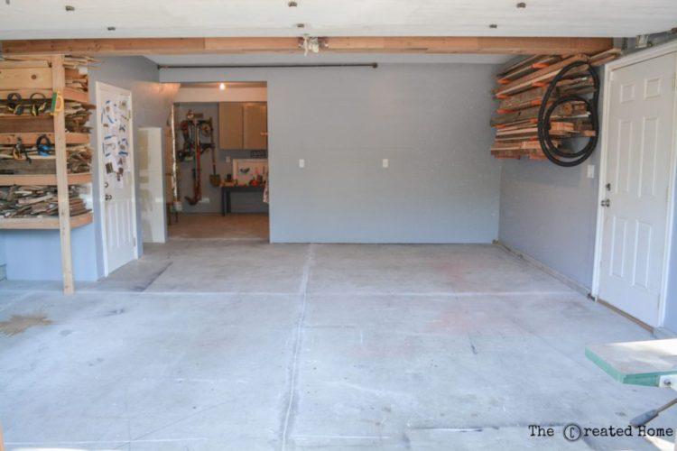 diy garage upgrade with rust oleum rock