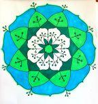 green blue mandala