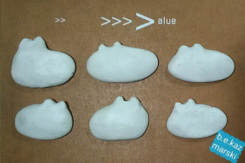 cat shapes in clay