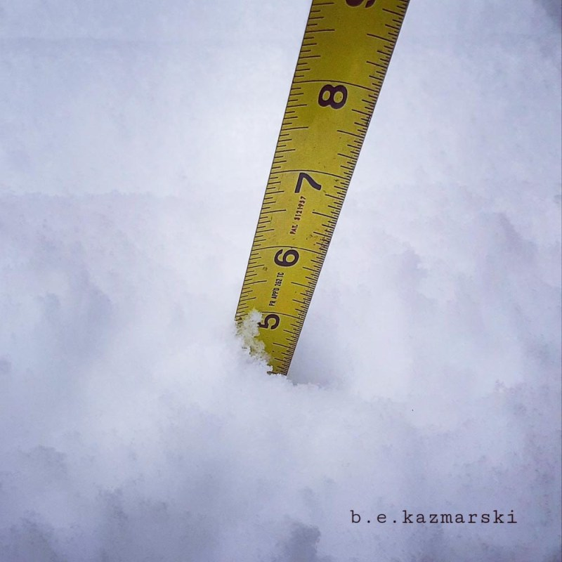 ruler in snow