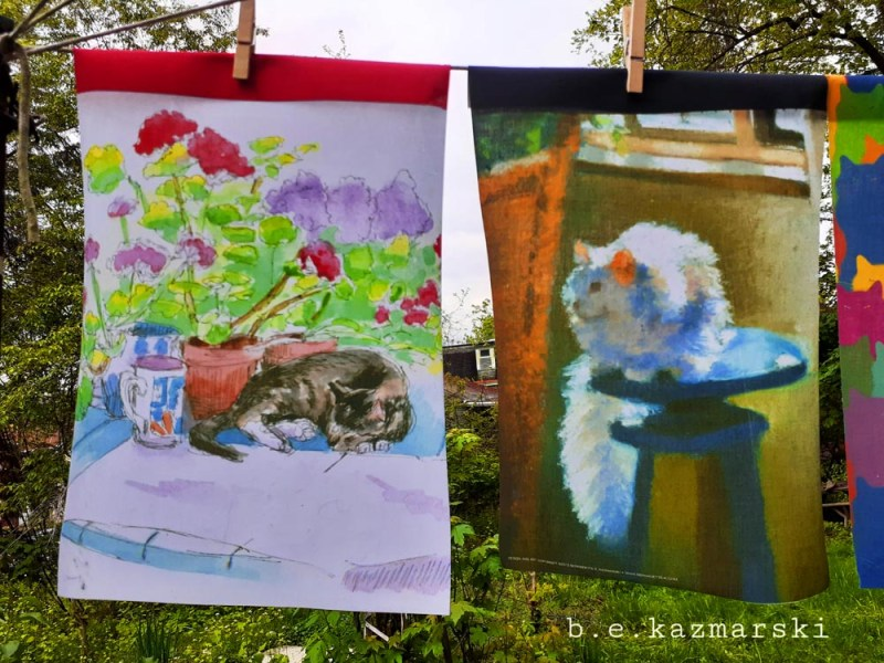 cat garden flags