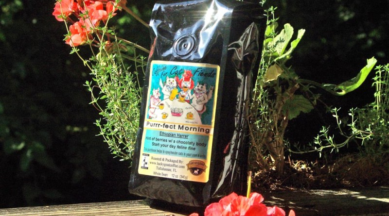 photo of coffee with geraniums