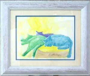 matted and framed watercolor