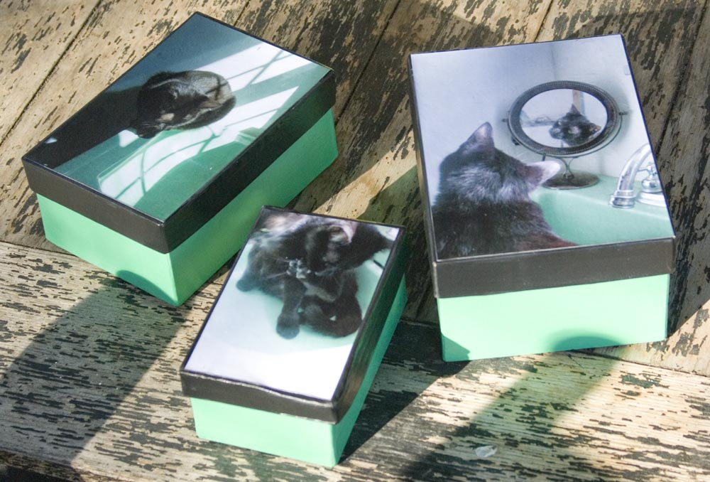 keepsake boxes with black cats