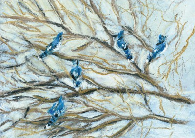 """""""Winter Birds"""" paintings holiday cards"""