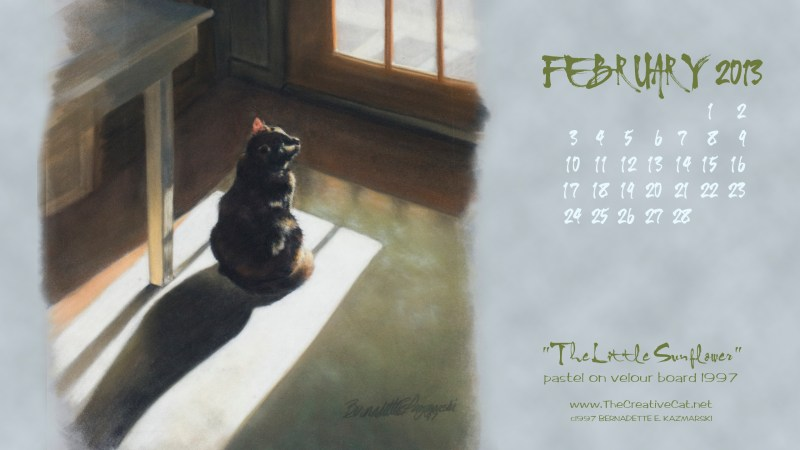 the little sunflower desktop calendar