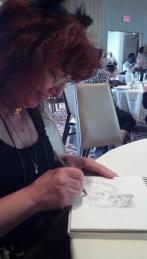 me sketching