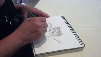 person sketching