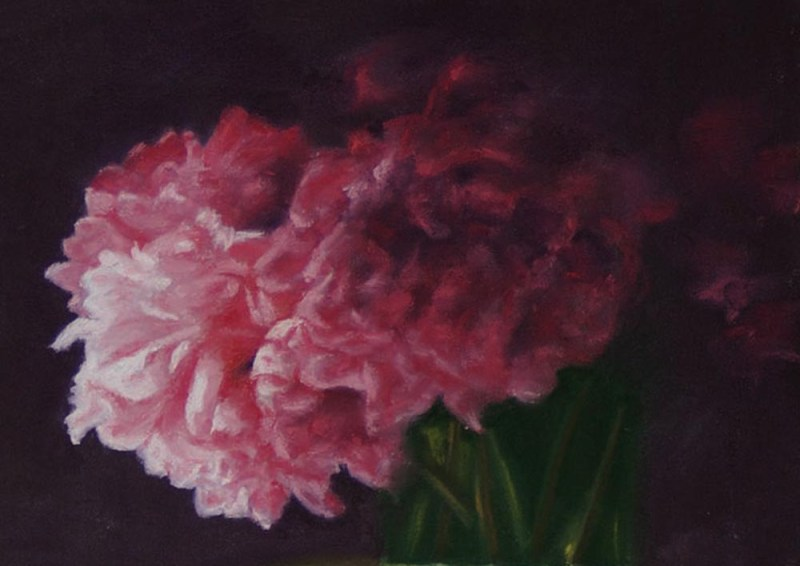detail of peonies