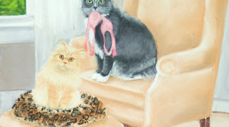 illustration with two cats