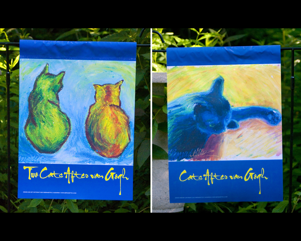 """Cats After Van Gogh"""