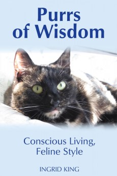 "Cover for ""Purrs of Wisdom"" by Ingrid King"