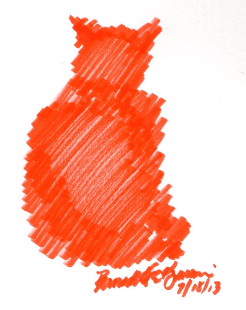 """Another Hot Afternoon"", brush marker, 4.5"" x 6"" © Bernadette E. Kazmarski"