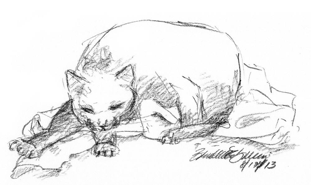 Daily Sketch Reprise: The Big Bath, 2013